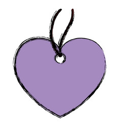 heart pendant necklace vector image