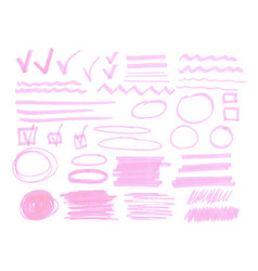 Highlighter marks set vector