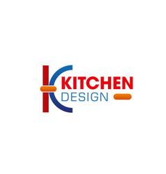 kitchen design k letter icon vector image