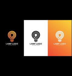 lamp logo design premium vector image