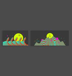 landscape background terrain wavy background vector image