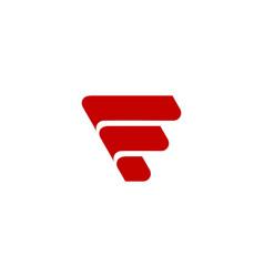 letter f icon alphabet symbol vector image