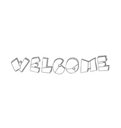 lettering word welcome is made in the form of vector image