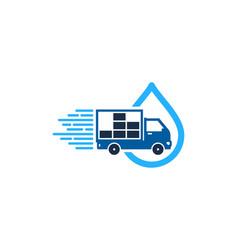 Liquid delivery logo icon design vector