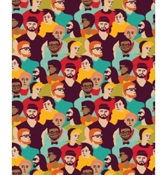 Man only crowd big group color seamless pattern vector