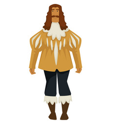 Man or prince in vintage baroque style clothes vector