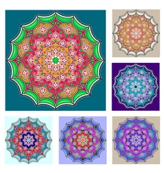 Mandalas collection Round Ornament Pattern Vintage vector