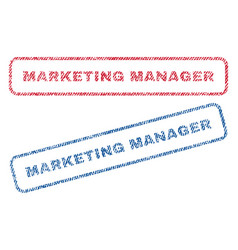 marketing manager textile stamps vector image