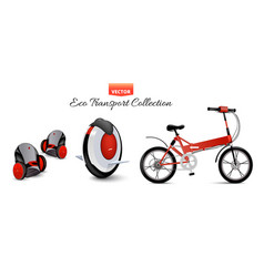 mono wheel isolated roller scooter balance bikes vector image