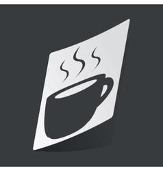 Monochrome hot drink sticker vector image