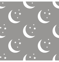 Moon seamless pattern vector