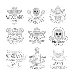National Traditional Mexican Cuisine Restaurant vector