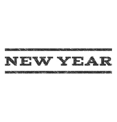 New Year Watermark Stamp vector