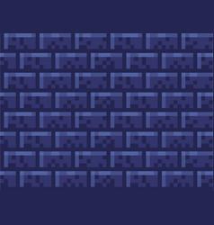 pixel brick wall seamless pattern wallpaper stone vector image