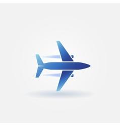 Plane takeoff logo vector image