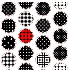 Polka dot patchwork pattern vector image