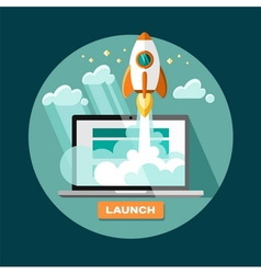 Project start up launch vector