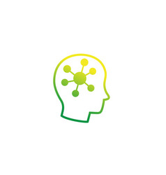 Psychology icon with human head vector