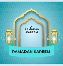 Ramadan kareem greeting card background vector