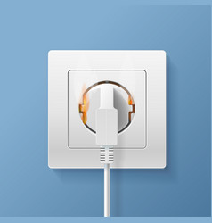realistic detailed 3d plugs inserted in electrical vector image