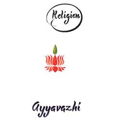 religious sign-ayyavazhi vector image