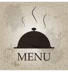 Restaurant menu template in grunge retro style vector image