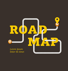 road map business concept with winding road vector image