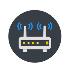 Router modem icon in flat style vector