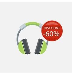 Sale of Household Appliances Headphones vector