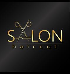 salon haircut design vector image