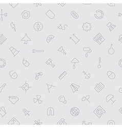 seamless icons industrial background vector image vector image