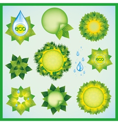 Set of decorative elements for eco design vector image