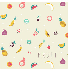 small fruit and vegetables icons pattern vector image