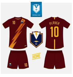 Soccer jersey football kit mockup template design vector