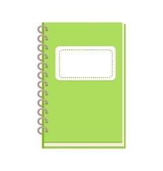 Spiral Notebook in Flat Design vector