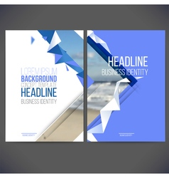 Template design annual report 2017 layout vector