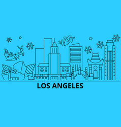 united states los angeles city winter holidays vector image