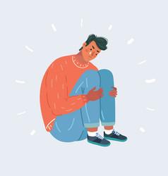 upset crying man vector image