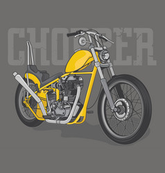 Vintage chopper motorcycle vector