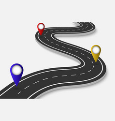 winding road on a transparent backgroundnter vector image