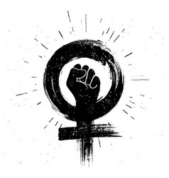women resist symbol raised fist icon vector image
