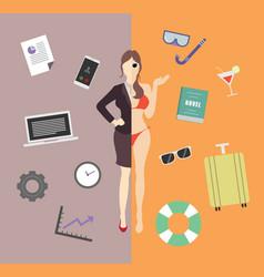 work and life balance vector image