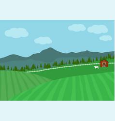 countryside farm vector image
