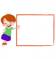 kid with sign vector image vector image