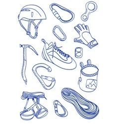 Mountain Climbing - doodle style vector image vector image