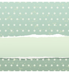 Retro background with torn paper vector image vector image