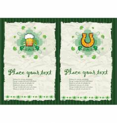 St. Patrick's Day backgrounds vector image vector image