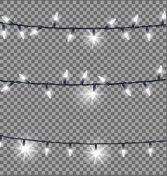 strings of glowing christmas lights vector image vector image