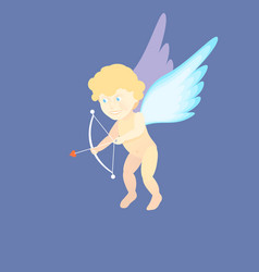 a valentines day cupid ready to vector image vector image