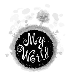 Beautiful poster with a stylized globe vector image vector image